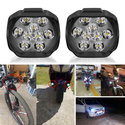 9LED Motorcycle Headlight Spot Lights Head Lamp LED Front DC12V Driving BLMO