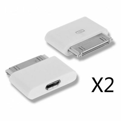 2X Adaptador Micro USB a Conector de 30 Pines Nuevo para iPhone 4 4s 3 ipad ipod