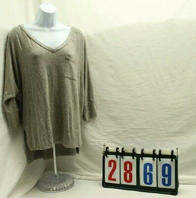 Moa Moa Womens Size Large V Neck Shirt Blouse Top