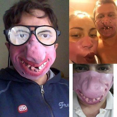 Half Face Comedy Funny People Face Mask Fancy Latex Party Masks Masquerade MA