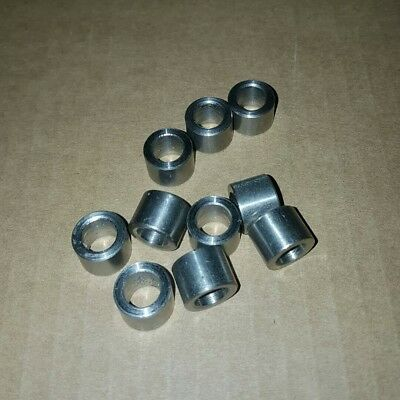 "(10 pcs) stainless steel spacer / bushing 1/2"" OD x  5/16"" ID x 5/16 long / tall"