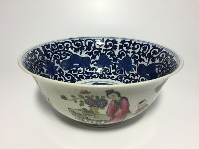 Chinese Antique Famille Rose Porcelain Bowl 18th Century Xuantong Mark