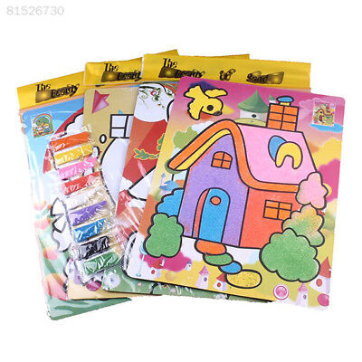 7FF8 4634 9Colors Children DIY Sand Painting Classical Learning Educational Toys