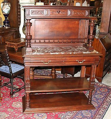 French Antique Louis XVI Walnut Dining Room Server Buffet Sideboard Furniture
