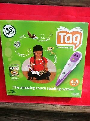 Leap Frog Tag Reading System Purple Pen with Storybook Age 4-8 With Ozzie & Mack