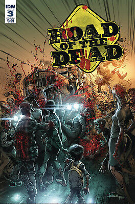Road Of The Dead Highway To Hell #3 Santiperez Cover Idw Comics Zombies