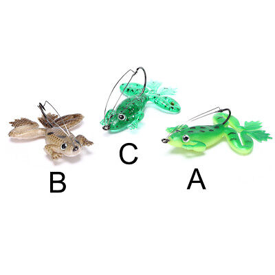 2pcs/lot 6cm/5g Frog Soft Bait Fishing Lures Soft Frog Fishing lures with Hook