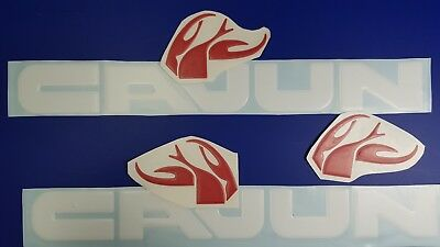 "Cajun boat Emblems 22"" white + FREE FAST delivery DHL express - stickers"
