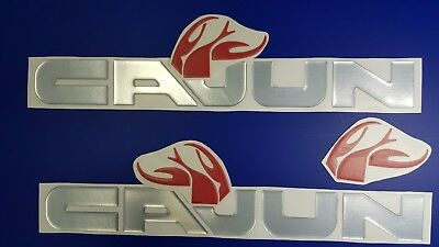 "Cajun boat Emblems 22"" chrome + FREE FAST delivery DHL express - stickers"