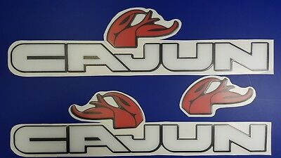 "Cajun boat Emblems 22"" black white + FREE FAST delivery DHL express - stickers"