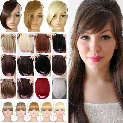 ONE PIECE Fringe Bangs Front Forehead Clip in Hair Extensions Extension As Real