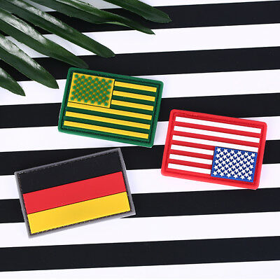 1 PC 3D PVC Rubber National Flag Patch Tactical Army Morale Badge