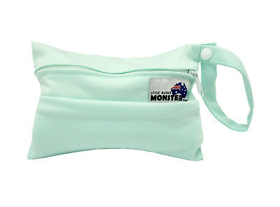 Light Green Mini Wet Bag For Menstrual & Breast Pads + Reusable Waterproof NEW!