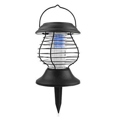 LED Solar powered Insect Killer Mosquito Zapper Bug Fly Outdoor Lamp Light Trap