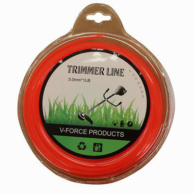 3.1mm 50M Trimmer Line Square 1LB Cord Brush Cutter Whipper Snipper Mow WDMATE