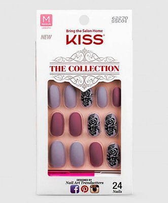Kiss THE COLLECTION NAILS Design SSC01 Oval Matt Dekor Künstliche Fingernägel
