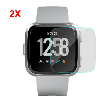 2Pack H9 Clear Screen Protector Ultra Slim Tempered Glass Guard For Fitbit Versa