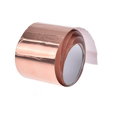 5cm*1m copper foil shielding tape 1-side conductive adhesive guitar accessory BH