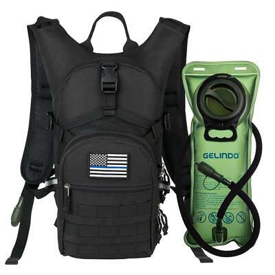 Military Tactical Hydration Backpack with 2L Water Bladder Light Weight Black...