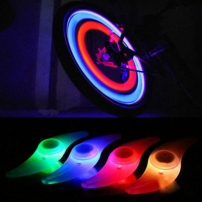 4Pcs Colourful Bike Bicycle Cycling Wheel Spoke Tire Wire Tyre LED Light Lamp CN