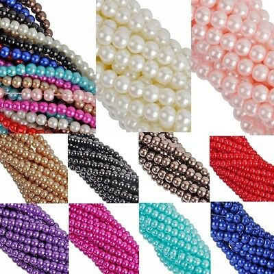 Chic Spacer Loose Beads Jewelry Findings Charms Glass Pearl Wholesale 4 6 8 10mm