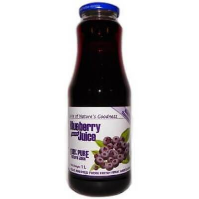 100% Natural Blueberry Juice No Chemicals No Added Sugar 1000 ml