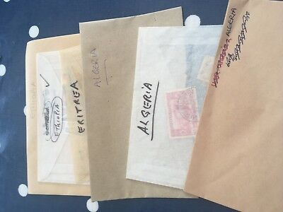 Africa Algeria Eritrea off paper stamps direct from estates in bags unchecked