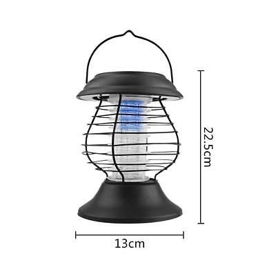 Solar Powered Mosquito Zapper Mozzie Killer  UV LED Light Fly Bug Insect Trap AU