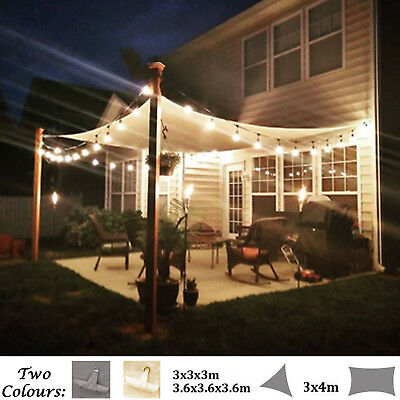 Water Resistant Shade Sail Sun Canopy Patio Awning Garden 98%UV Block Home Party