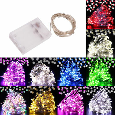 LED Batteries Plug in Rice Wire Copper Fairy String Light Christmas Lamp Decro M