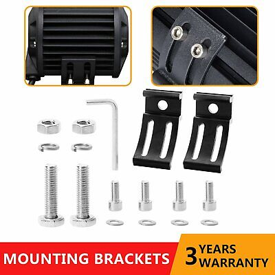 2Pcs Universal Mounting Brackets Mount Rotating For LED Work Light Bar Set