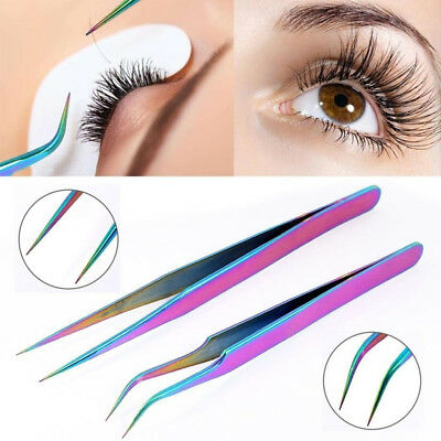 Straight  False Eyelashes Eye Lashes Tweezer Clip Applicator Extension Tools