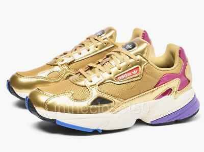 best sneakers 952d8 41a0d Adidas Falcon Metallic Gold Off white Chunky Bulky Womens Trainers CG6247