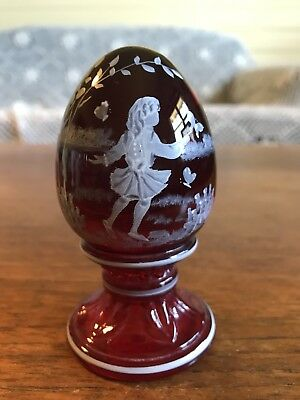 Fenton Limited Edition Hand Painted Art Glass Egg Signed D Fredrick