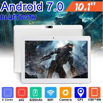 """10.1"""" Inch Android Tablet 64GB Quad Core Dual Camera Bluetooth Wifi  Tablet UK"""