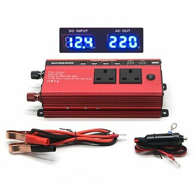 3000W DC 12V Supply to AC 230V Car Van Power Inverter Converter 4 USB