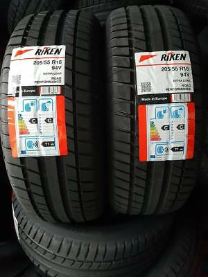 2x New 205 55 16 RIKEN ROAD PERF 91W 2055516 205/55R16 *C/C RATED MICHELIN MADE*