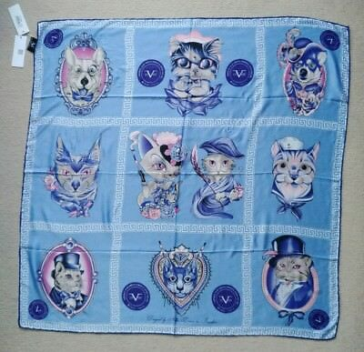 Versace 1969 Scarf Headscarf Ladies Designer 90X90 Rrp £99 Gift Cats Dogs cc0ef06b35d