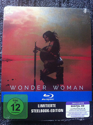 WONDER WOMAN - Limited Edition Steelbook Blu-ray - Region ALL ( A,B,C ) -