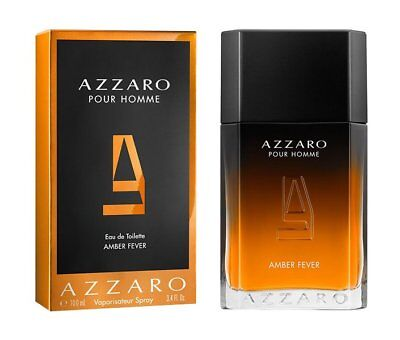 c52a81456 2018 AZZARO pour homme AMBER FEVER eau de toilette 100 ml 3.4 oz new sealed