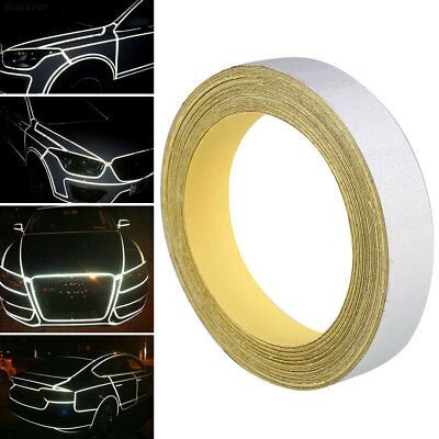 05C8 Silver Sticker Tape Strip Car 1CMx5M Warning Safety Reflective Motorcycle