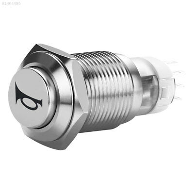 34CE 16MM 12V 3A Momentary Reset Switch Button Car Motorcycle Horn Flat Waterpro