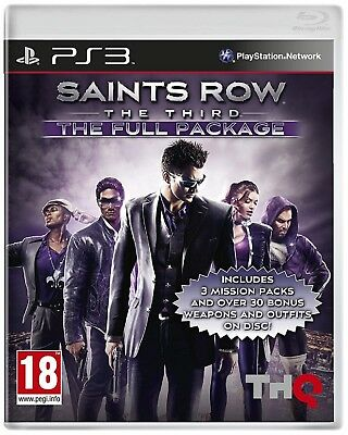 SAINTS ROW THE THIRD THE FULL PACKAGE PS3 PlayStation 3 Video Game UK New Sealed
