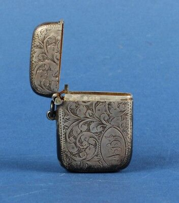 Antique Sterling Silver Vesta Case.