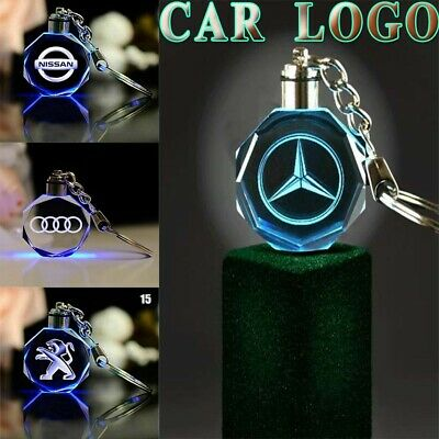 Car Logo Keyring 2019 New Fashion 3D Keychain Engraved Crystal Boys Gift Keyfob