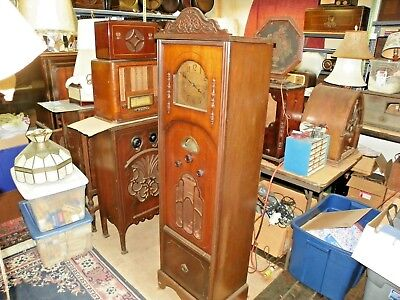 Vintage Atwater Kent Model 80 Grandfather Clock Radio  Chassis Serial # 6410934