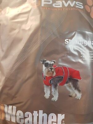 Ancol All Weather Muddy Paws Stormguard Dog Coat XX Large Red New 980153