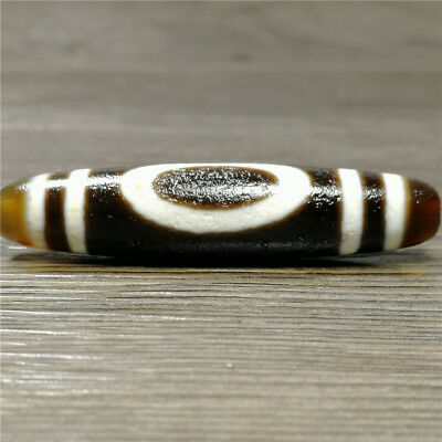 band certificate tibet dzi bead old agate 1 eye amulet gzi antique Pendant A1186