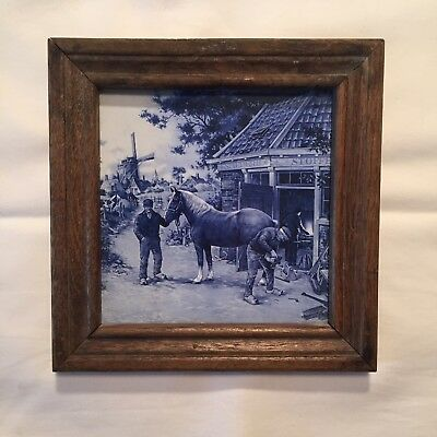 Royal Mosa Holland Delft Tiles X3 In Frames