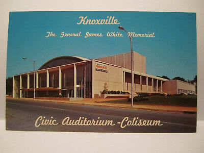 GENERAL JAMES WHITE MEMORIAL CIVIC CENTER POSTCARD KNOXVILLE TN TENNESSEE 1950s